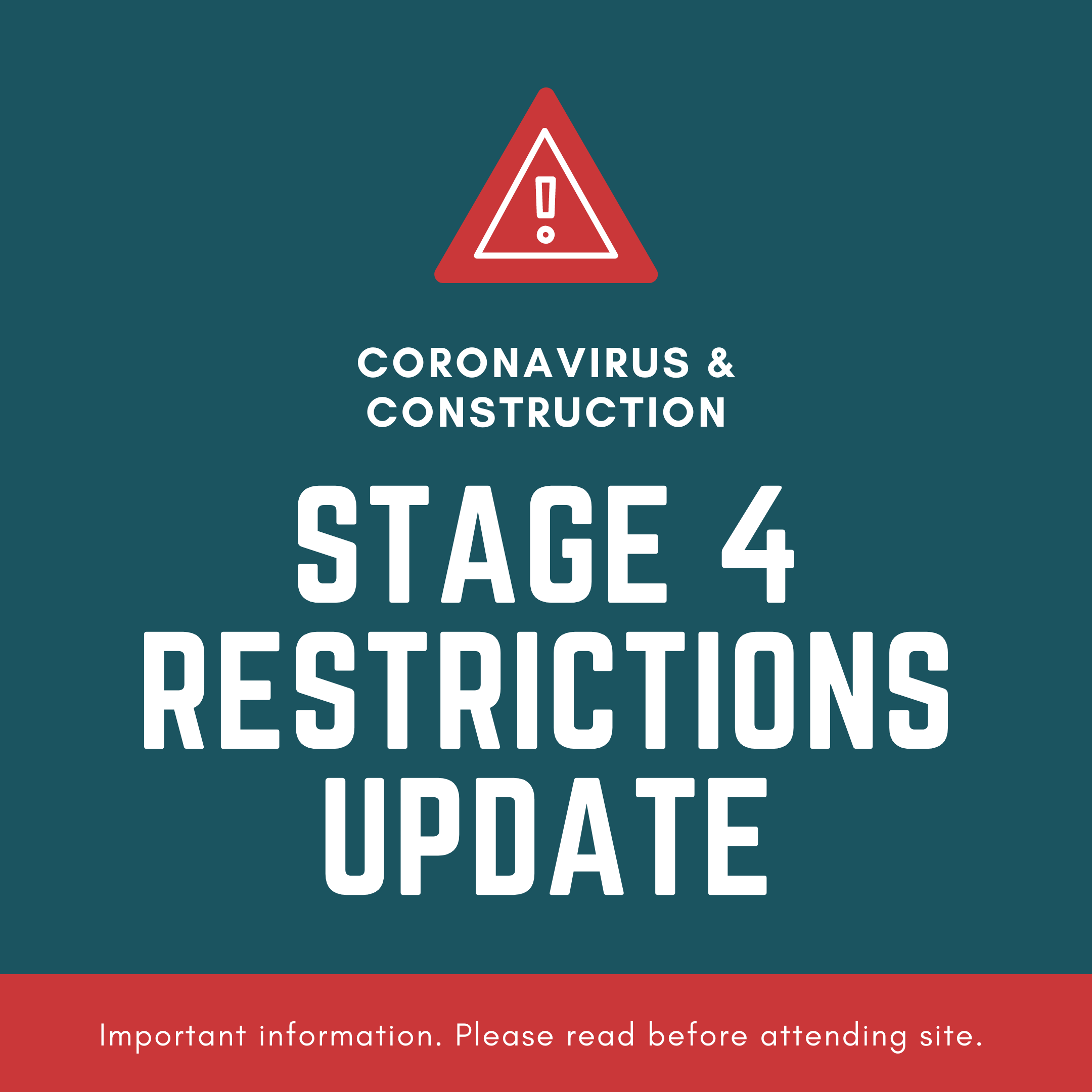 Stage 4 building industry update